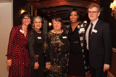 Monique B. Jones with ECF Board Leaders and outgoing President Sara Schastok